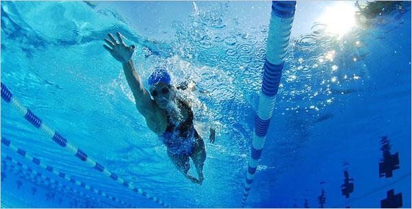 La velocidad en natacion