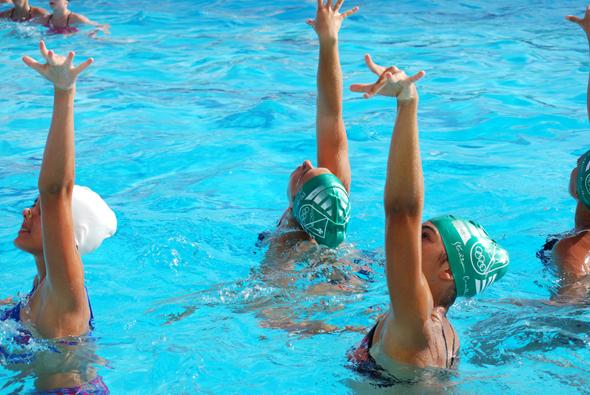 La natación sincronizada y el pilates