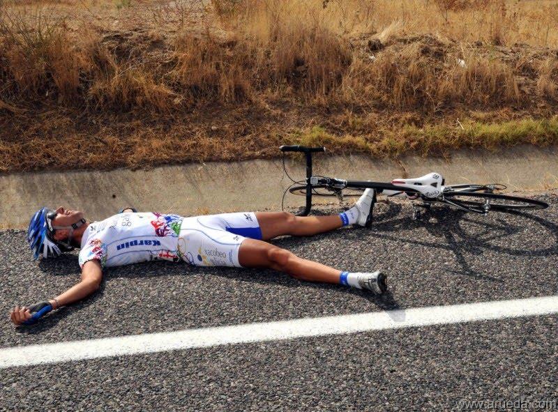 cansado ciclismo