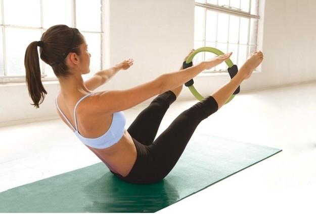 pilates v con aro