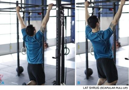 Encogimientos de hombros en barra